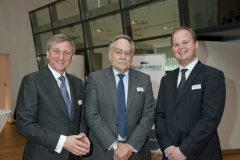 Prof.Dr. Gerhard Nowak, Harald Müsse und Nico Lüdemann beim Wirtschaftsforum in Münster