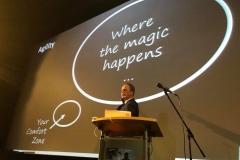 Nico Lüdemann über Transformational Leadership auf dem Kinoforum 2018