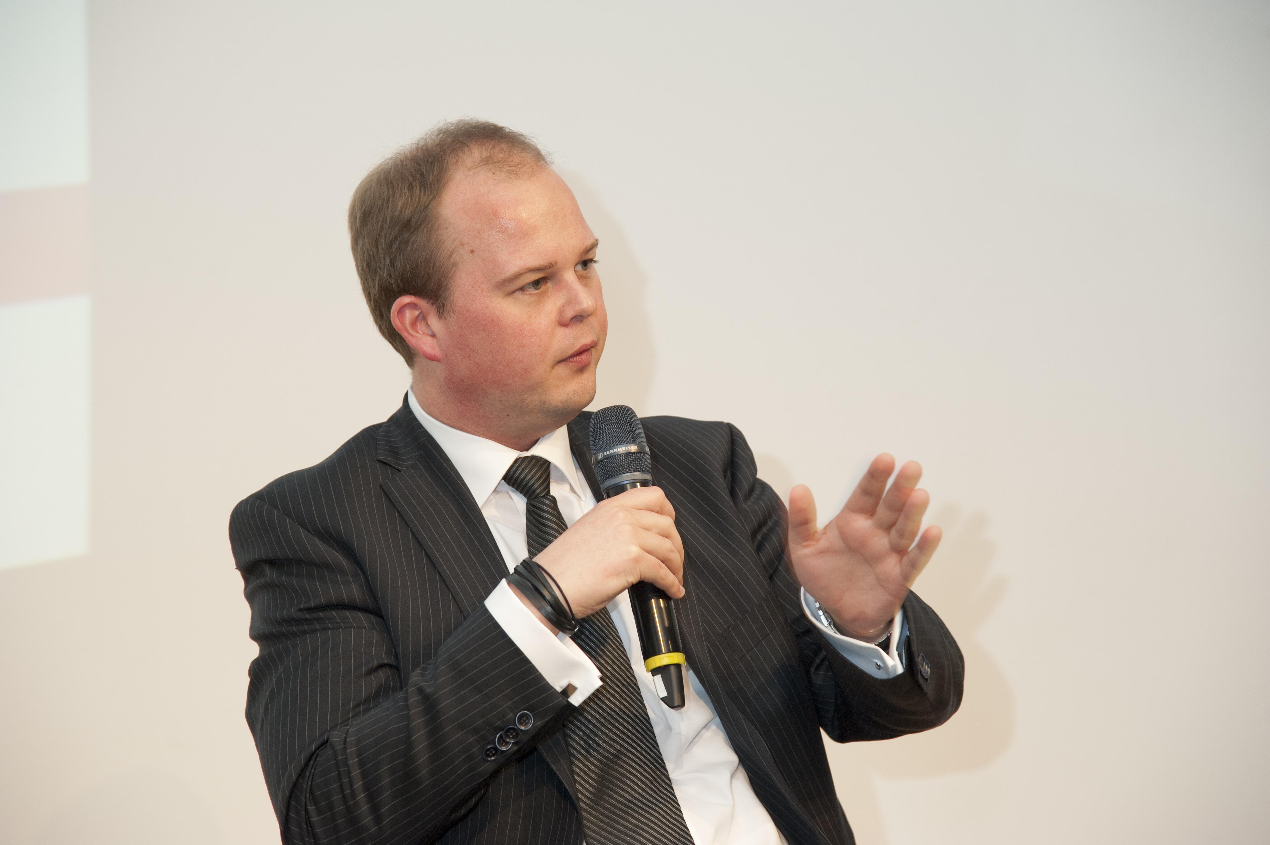 Nico Lüdemann beim Wirtschaftsforum Münster